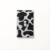 Cow Black and White Print Light Switch Cover