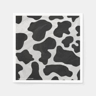 Cow Black and White Print Napkin