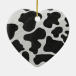 Cow Black and White Print Ornament