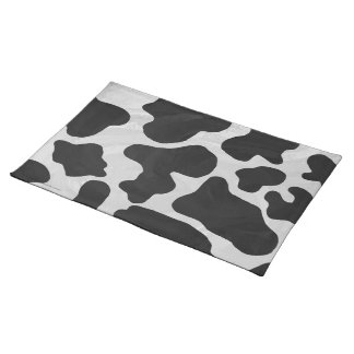 Cow Black and White Print Placemat