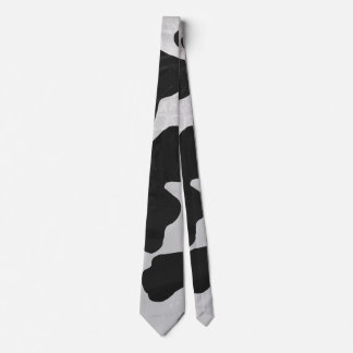 Cow Black and White Print Tie