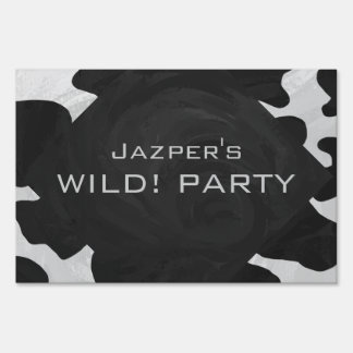 Cow Black and White Print Yard Signs