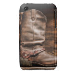 Cow Boy Boots Spur Monogram IPHONE 3 Cell Case iPhone 3 Covers