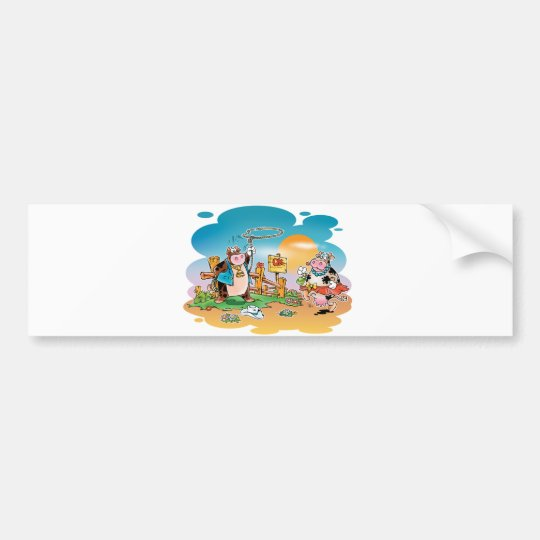 Cow-boys and Cow-girls Bumper Sticker