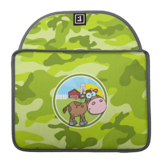Cow; bright green camo, camouflage sleeves for MacBook pro