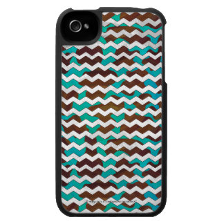 Cow Brown and Teal Print iPhone 4 Covers
