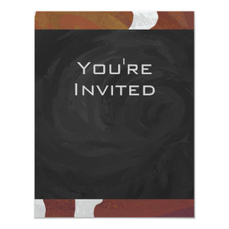 Cow Brown and White Monogram Card