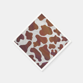 Cow Brown and White Print Napkin