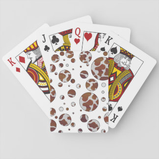 Cow Brown and White Print Card Deck