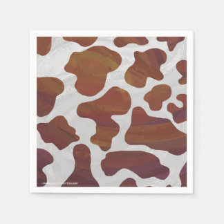 Cow Brown and White Print Paper Napkin