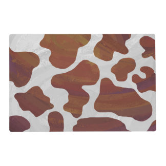 Cow Brown and White Print Placemat