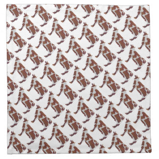 Cow Brown and White Silhouette Napkin