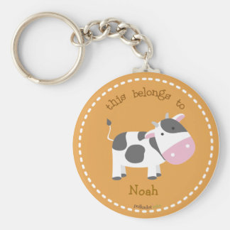 Cow Brown Keychain