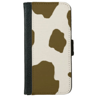 Cow Brown Skin Print iPhone 6/6s Wallet Case