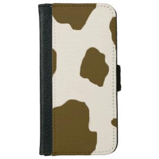 Cow Brown Skin Print iPhone 6 Wallet Case