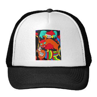 Cow/Bull and Girls Cartoon, Black Back Trucker Hat