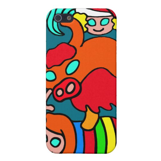Cow/Bull and Girls Childrens Cartoon iPhone SE/5/5s Case