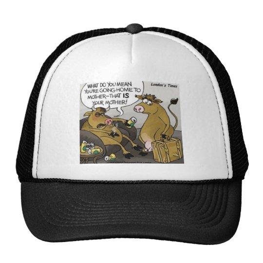 Cow Bull Divorce Funny Cartoon Gifts & Tees Trucker Hat