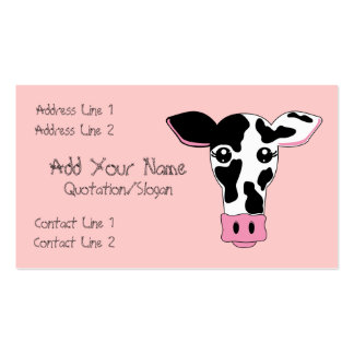 Cow Double-Sided Standard Business Cards (Pack Of 100)