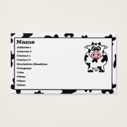 Cartoon cow business cards templates zazzle cow business cards colourmoves