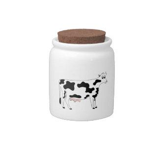 Cow Candy Jar