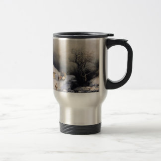Cow car of winter travel mug