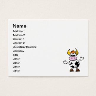 Cow cartoon business card