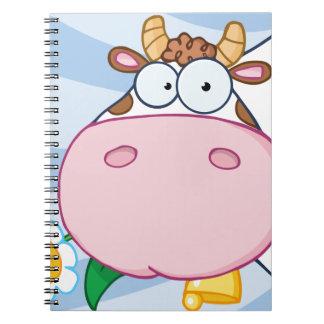 Cow Cartoon Character Journals