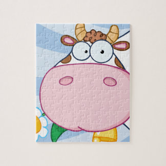 Cow Cartoon Character Jigsaw Puzzles