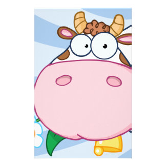 Cow Cartoon Character Stationery Paper
