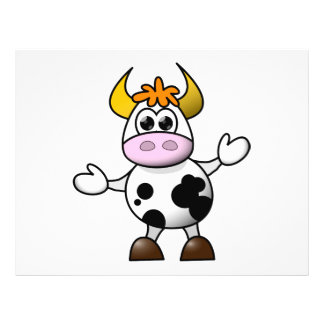 "Cow cartoon 8.5"" x 11"" flyer"