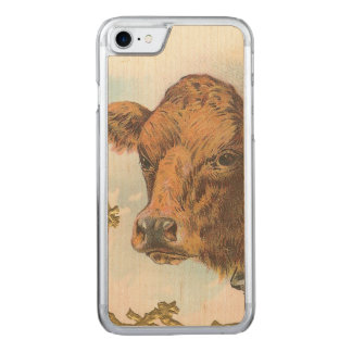 Cow Carved iPhone 7 Case