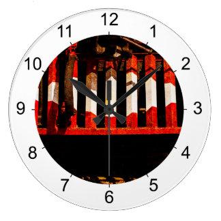 Cow Catcher Large Clock