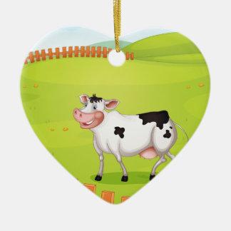 Cow Ceramic Ornament