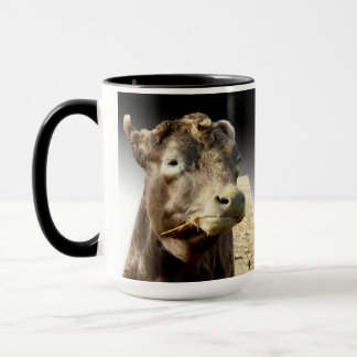 Cow_Chewing_Hay,_Blue_Ringer_Coffee_Mug Mug