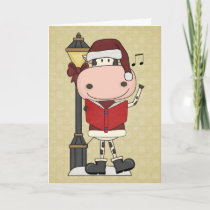 Cow Christmas Carols - Western Holiday Card