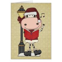 Cow Christmas Carols - Western Thank You Card