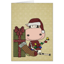 Cow Christmas Decorations - Western Card