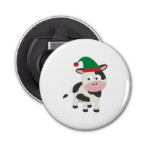 Cow Christmas Elf Bottle Opener
