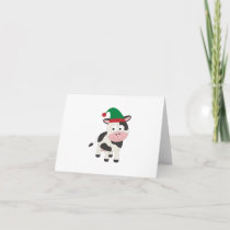 Cow Christmas Elf Holiday Card