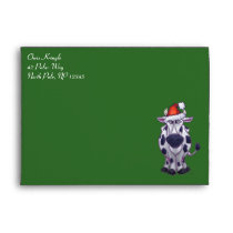 Cow Christmas Envelope