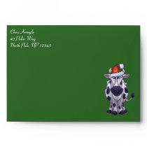 Cow Christmas Envelope