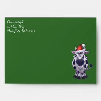 Cow Christmas Envelopes