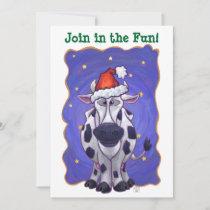 Cow Christmas Invitation