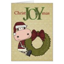 Cow Christmas Joy - Western Card