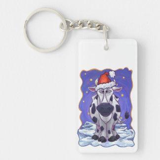Cow Christmas Keychain