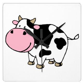 Cow Square Wall Clocks