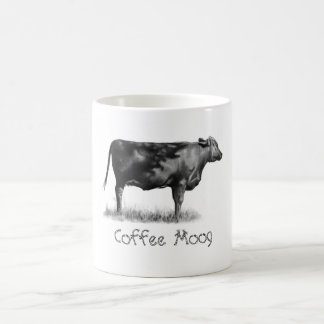 COW COFFEE MUG (Coffee Moog) Pencil Drawing