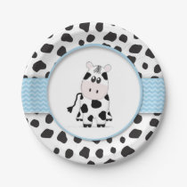 Cow Cowboy Baby Shower Plate