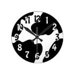 Cow Crazy clock